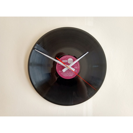 Hand Made Vinyl Record Wall Clock 30cm 12 inches