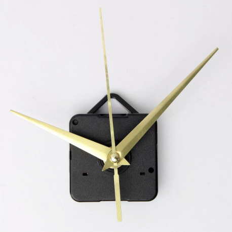 Gold hands clock mechanism