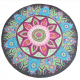 145cm Lotus Print Mandala Design Round Tablecloth