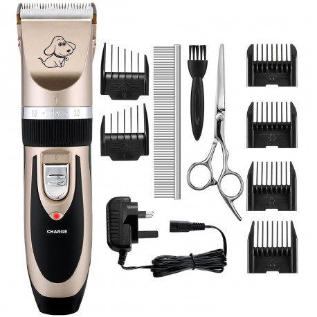 Electric dog clippers with accessories