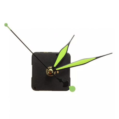 Green luminous hands clock mechanism