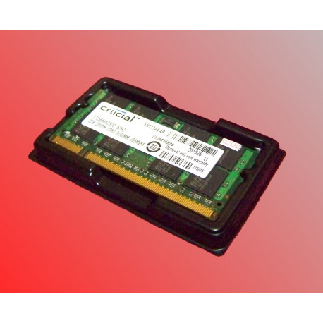 2GB Crucial branded laptop RAM DDR2 800MHz