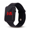 Red LED digital unisex watch