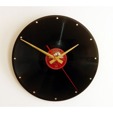 Vintage His Masters Voice 12 inch record clock