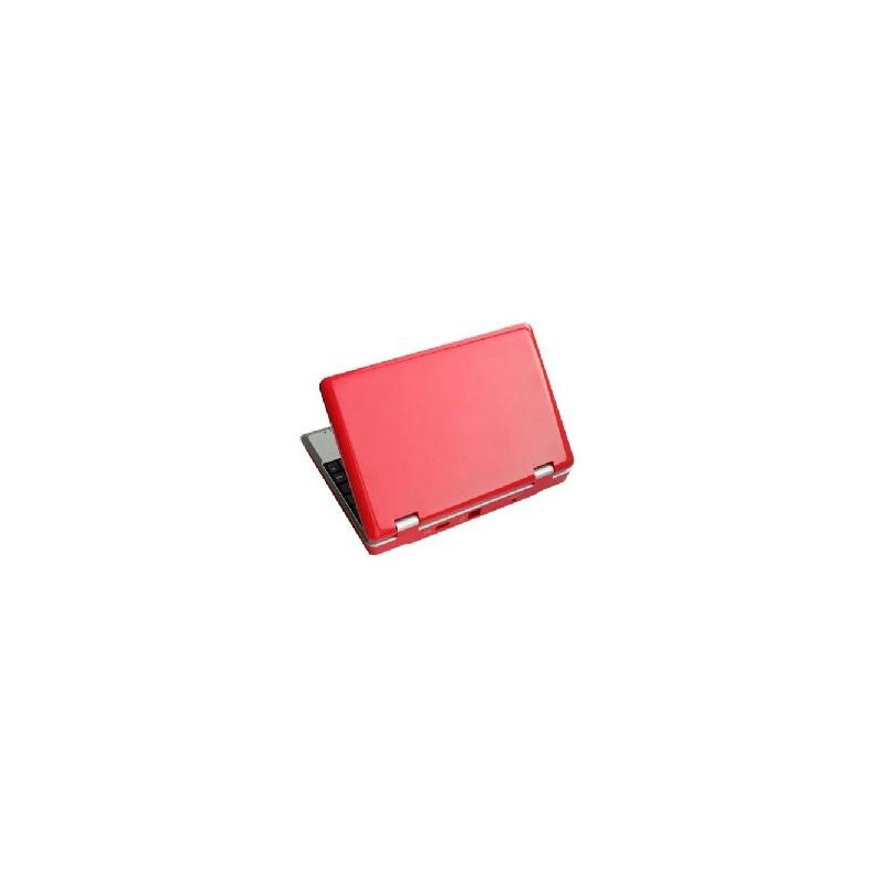 Red android netbook tablet